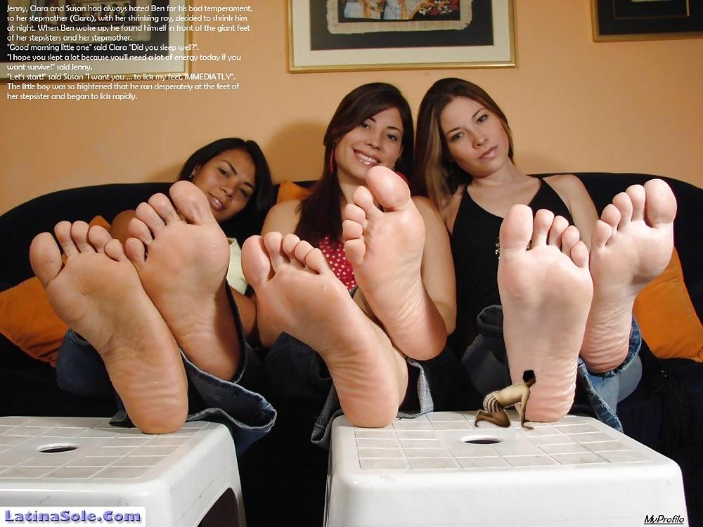 Femdom foot fetish captions