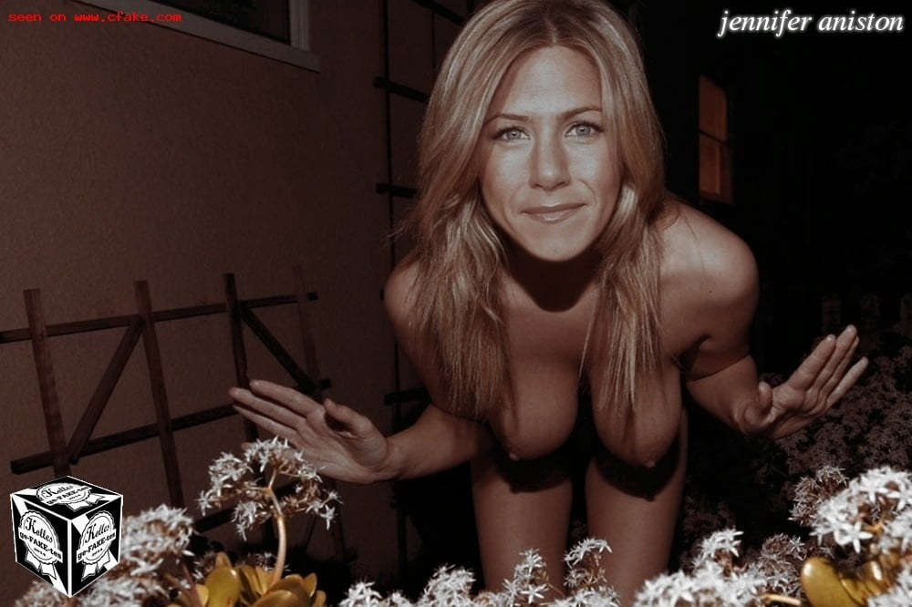 Jen aniston dons thigh