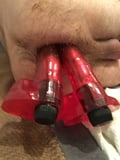 2 huge dilods up my ass!!!