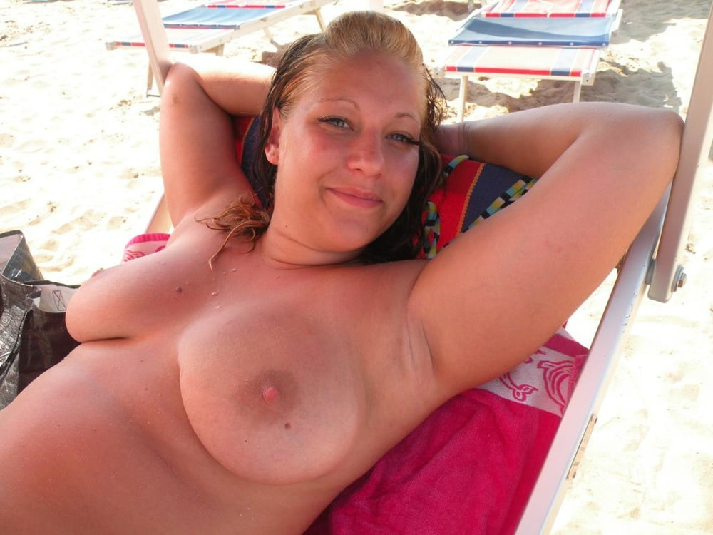 Chubby mother topless blonde