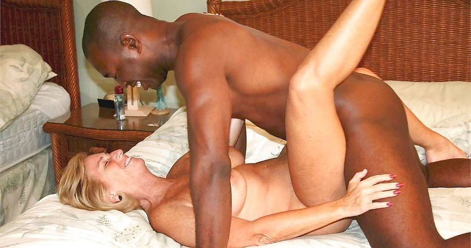 Black woman white man amateur