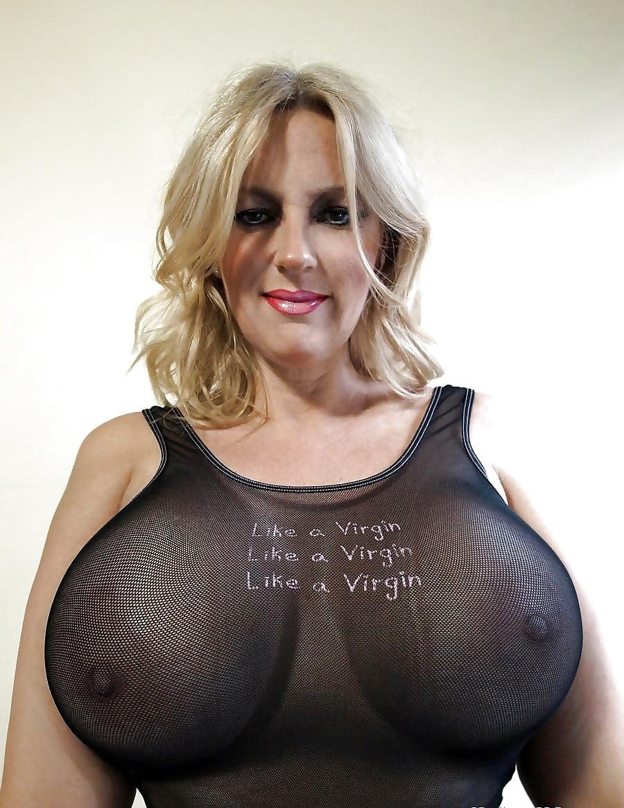 Boob mature pic tight top