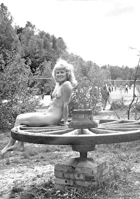 Silly vintage nudist captions