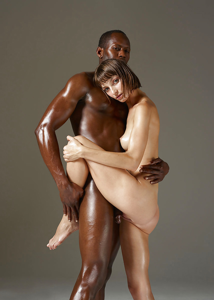 Young black guy white girl