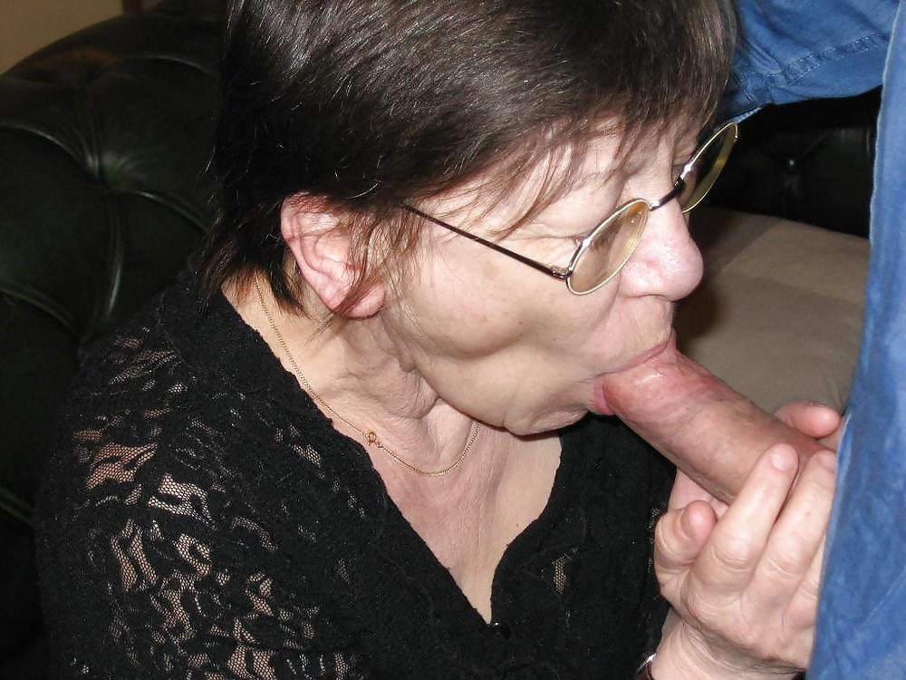 Old Mature Granny Sucking Young Cock