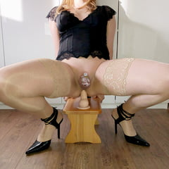 Sissy Task From Plus47 Chastity Cage And Dildo Anal Ride