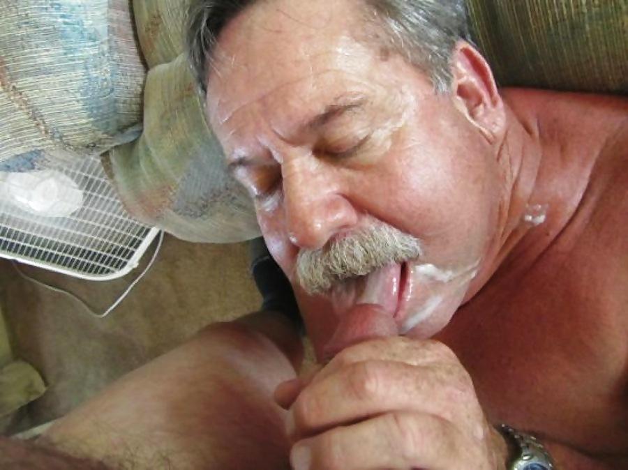 Son swallows his dads cum