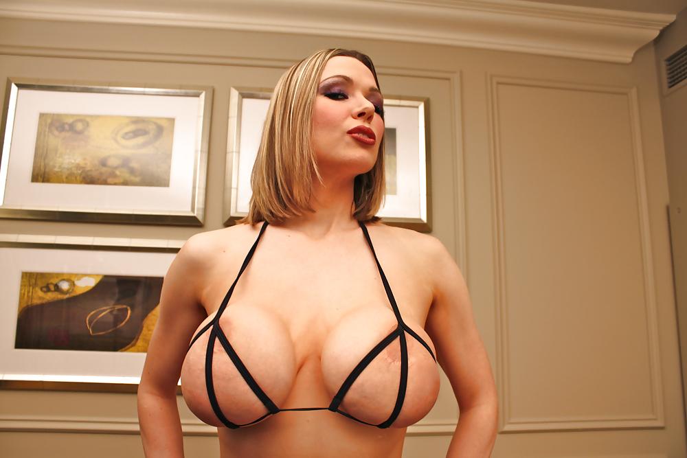 Big titted blonde milf kylee nash unveiling monster boobs in sensual lingerie