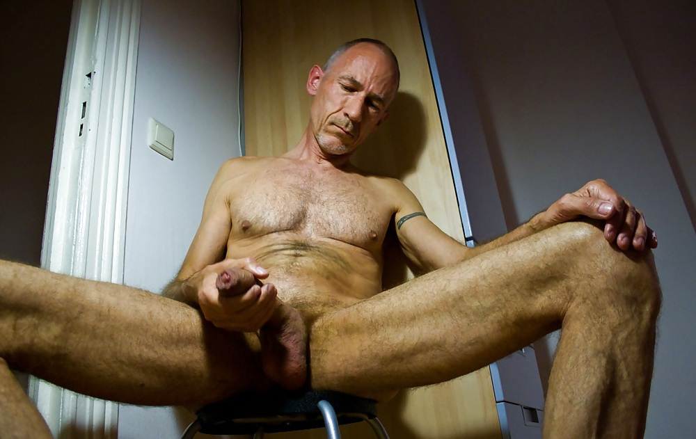 My hand on daddy cock
