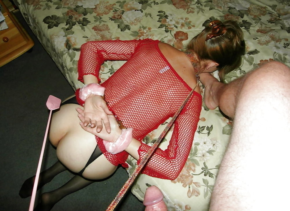 Leather bound wife amateur