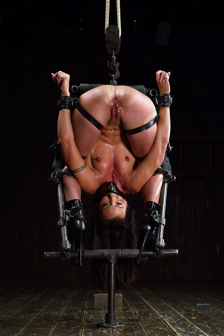 Sexy Ebony Bound And Strapped To Device Get