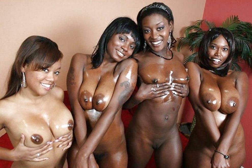 Group of naked black women