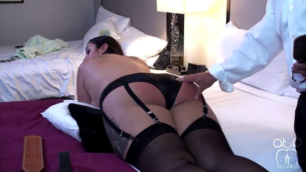 Big suspender framed bottom receives a thrashing- 19