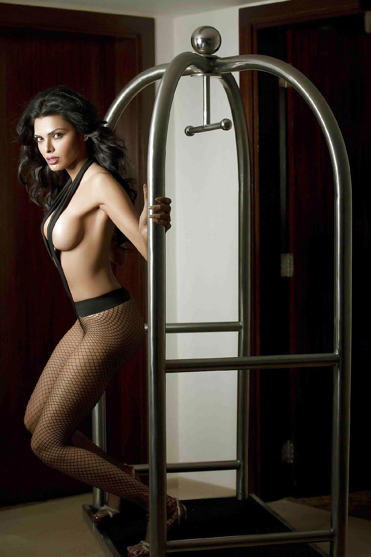 Sherlyn chopra's sexy twist to indian wear