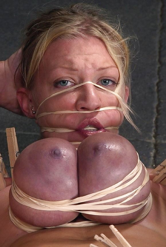 Whipping big tits torture