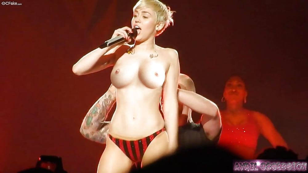 Miley cyrus was half naked for most of the vmas