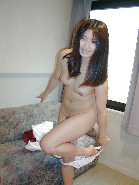 Japanese girl uses toy-6485
