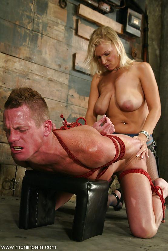 Men in pain latex mistress