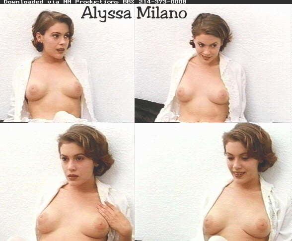 Alyssa milano naked celebrity