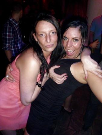 Having fun in club