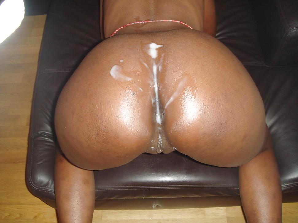 Ebony big butt creampie bbc