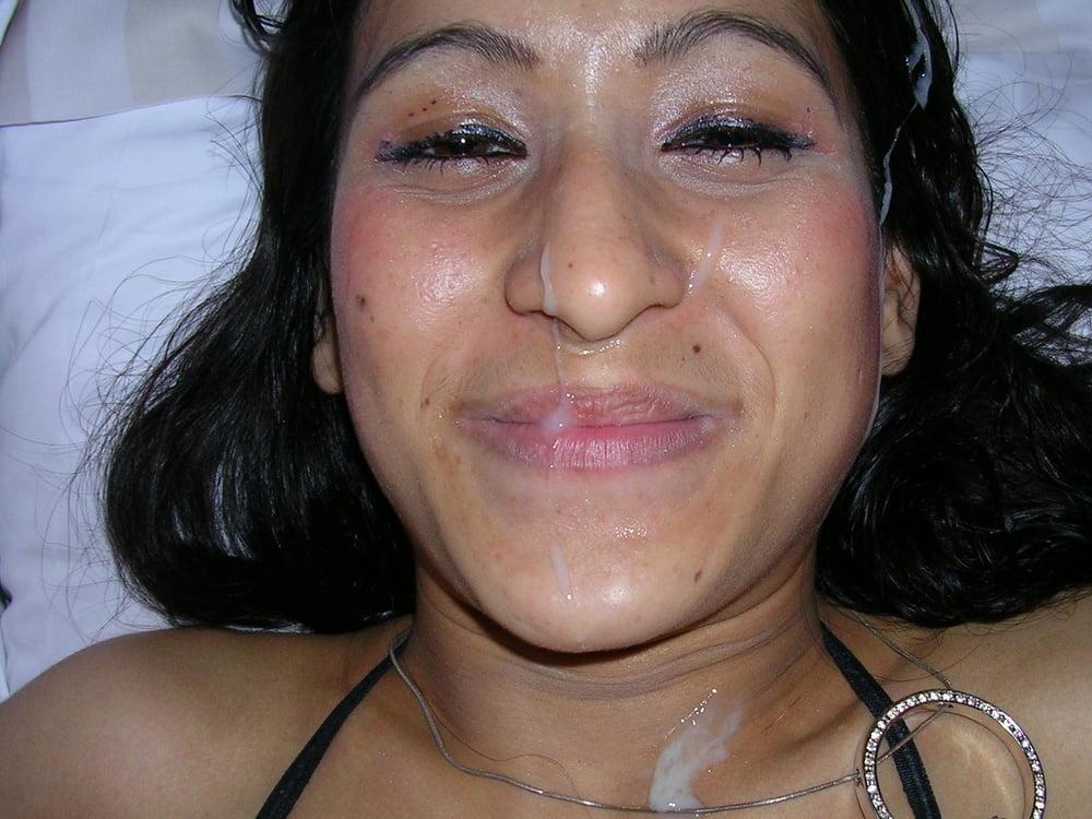 Cumshot aunty face