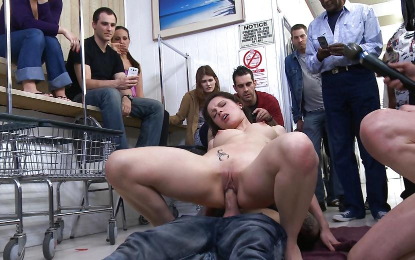 Extreme sex in public bathroom prank