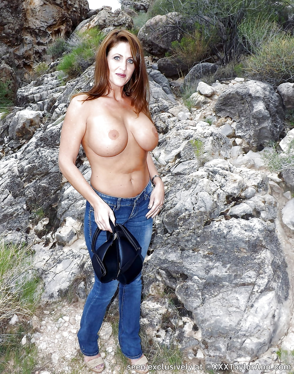 Hot hiking topless