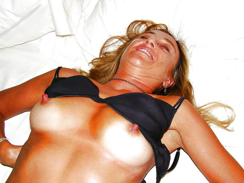 Older milf hard nipples