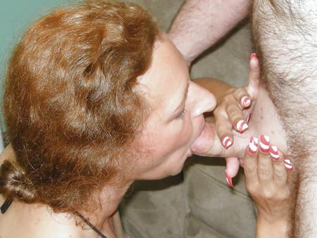 Petite housewife Anna sucks some dick