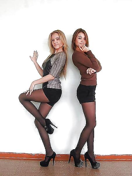 (part 6) Perfect teen leg skirt pantyhose high-heels - 109 Pics ...