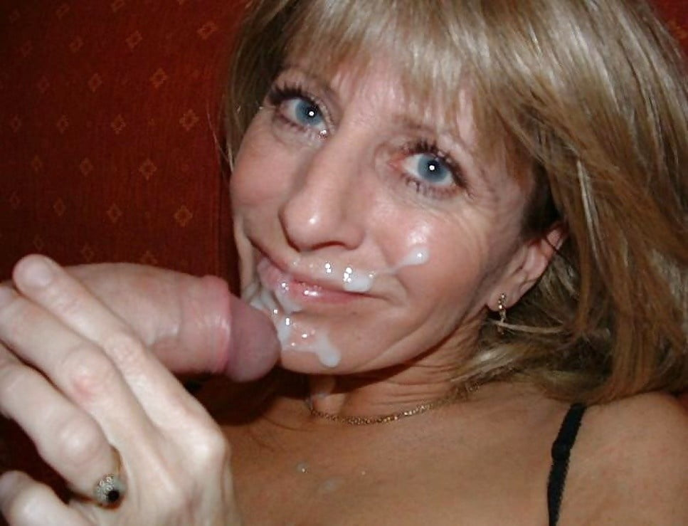 Real son cums in moms mouth, and she swallows