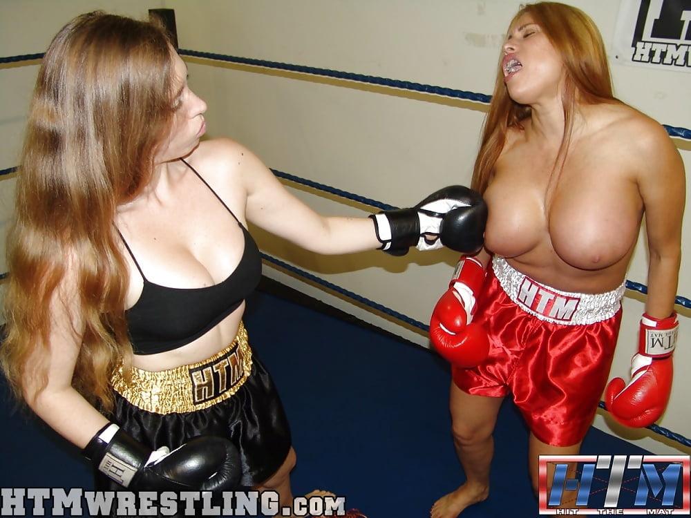 Busty fighting girl