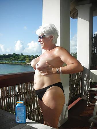 granny Big lesbian tit