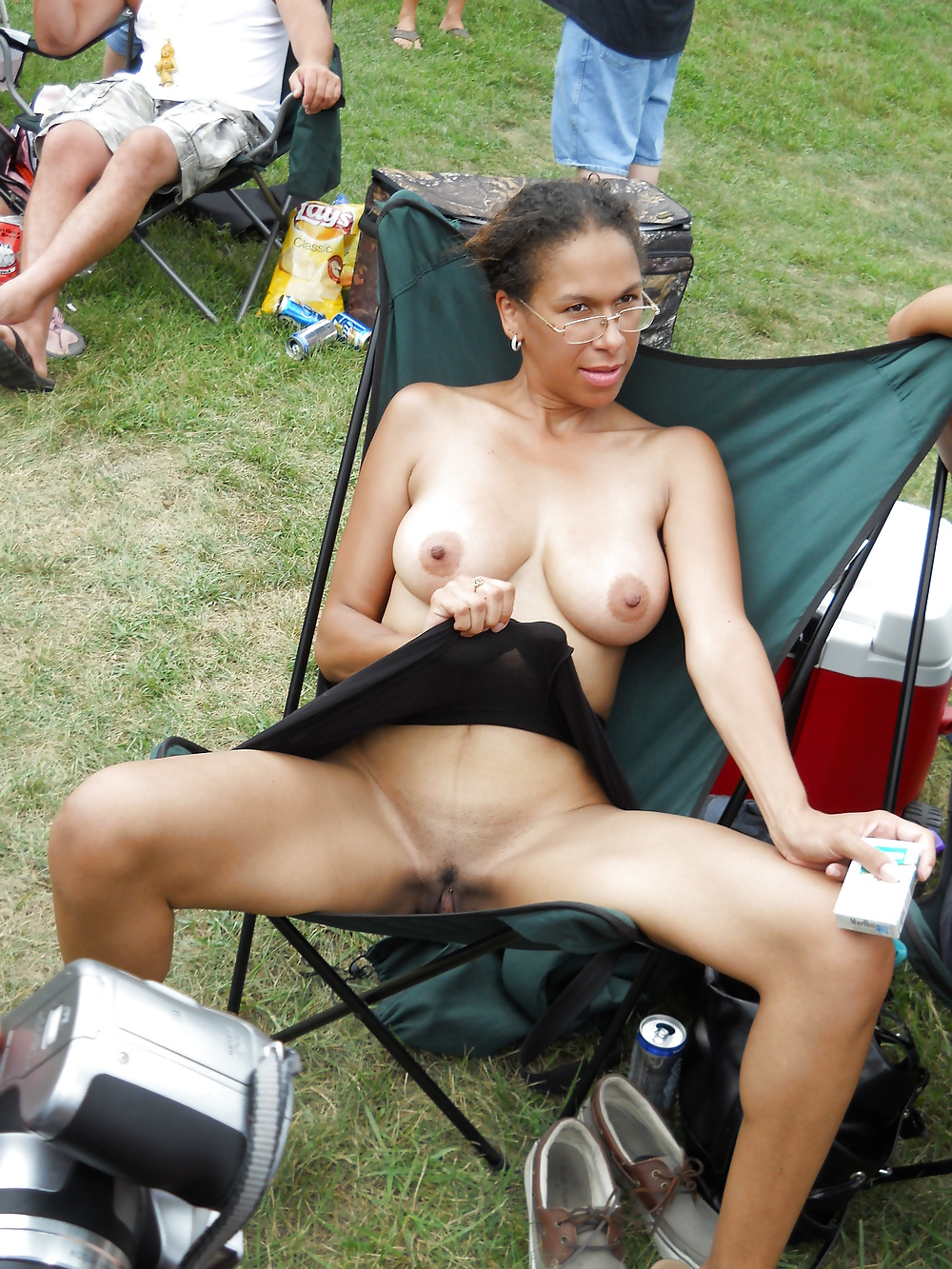 Hot milf in doggy style position