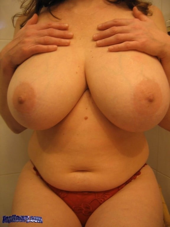 Skinny girl with huge natural tits-7364