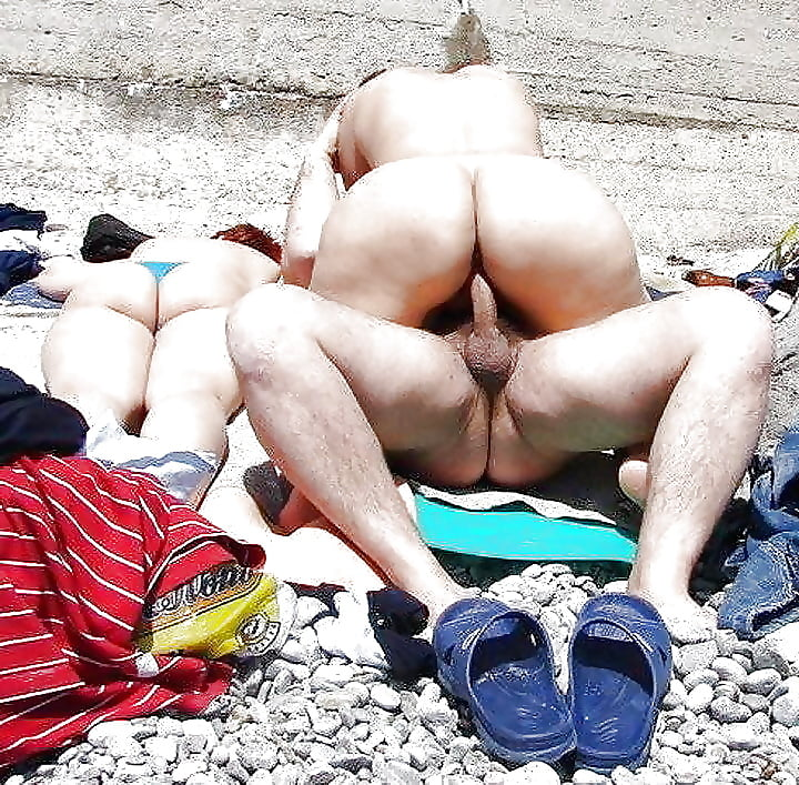 Porn on public beach-6739