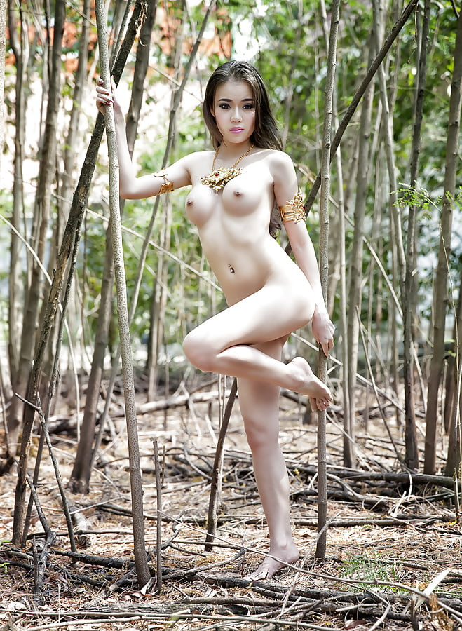 Plain looking amateur thai girl showing her hairy pussy