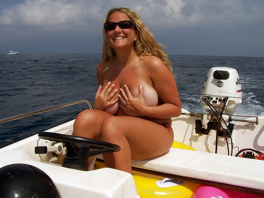 Busty girls boat drunk