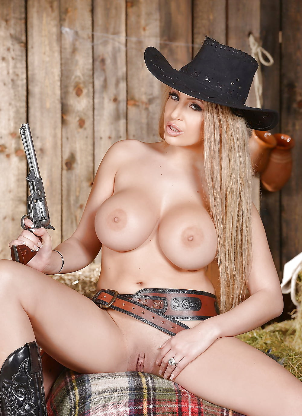 Topless Cowgirl