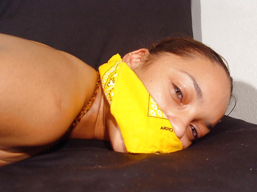 bandana gagged