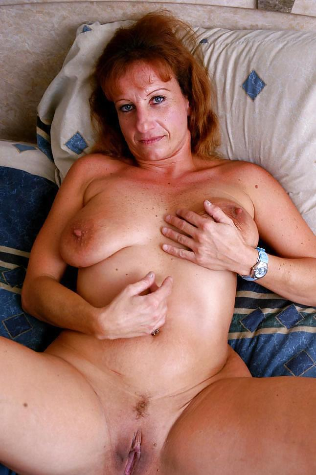 Mature with big saggy tits
