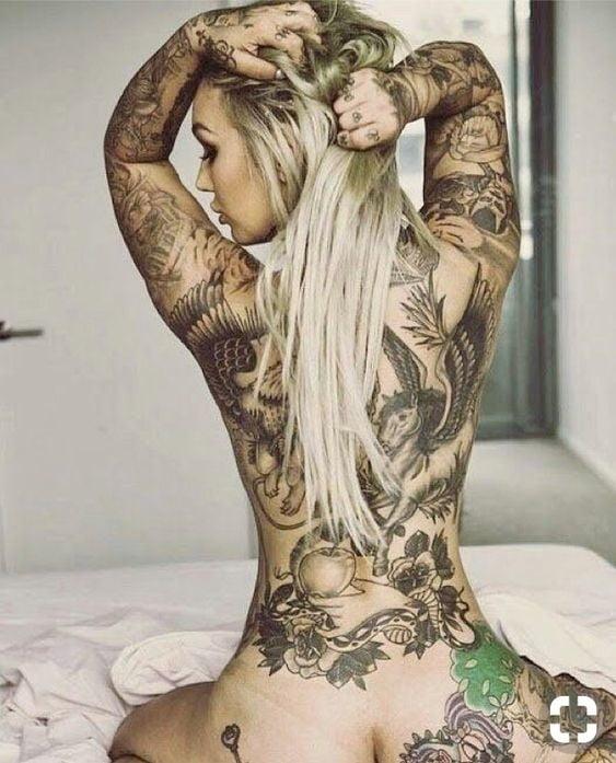 Female body art paintings