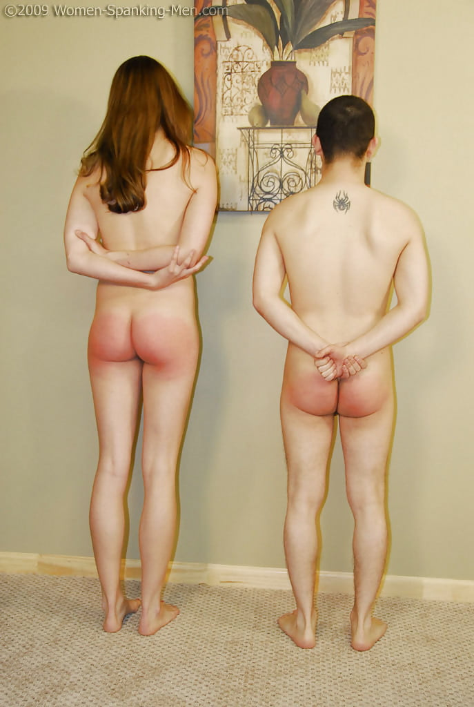 Girl spanking teen boy