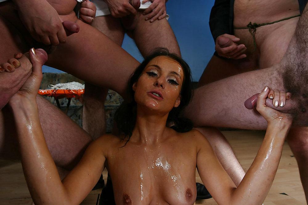 European bukkake sex party
