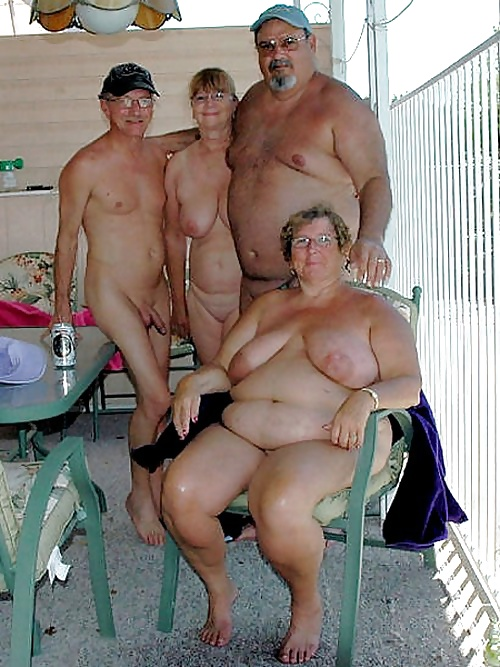 Nude mature group