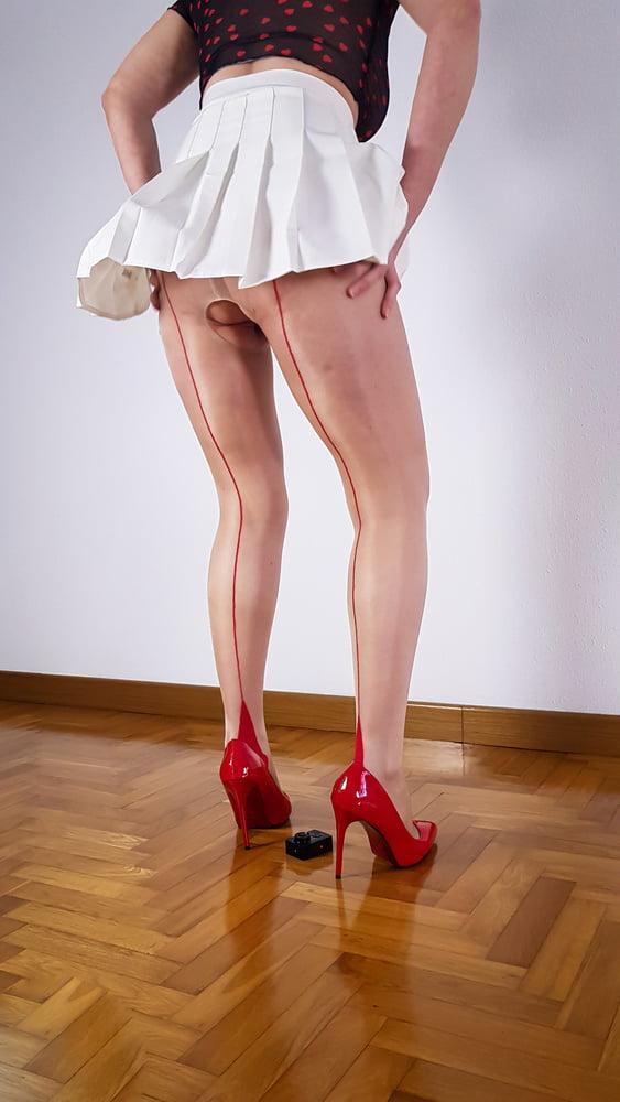 Open crotch pantyhose - 11 Pics