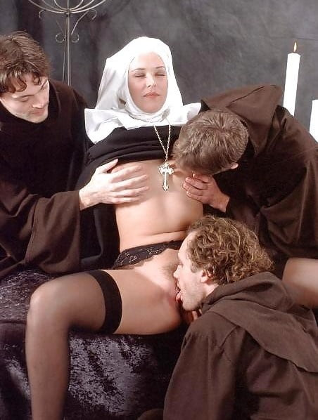 Futanari nun orgy