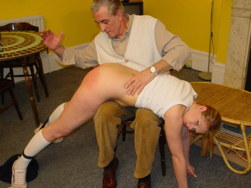 Girl spanked by officer porn — pic 6