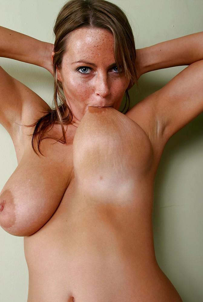 Big tits sucked hard